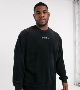 Czarna bluza Puma w sportowym stylu ze sztruksu
