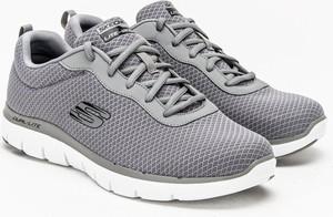 Buty sportowe Skechers ze skóry sznurowane w sportowym stylu
