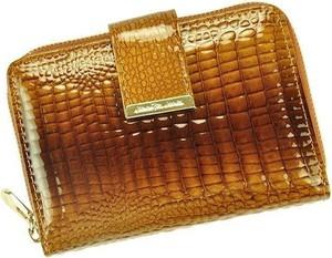 Pomarańczowy portfel Pellucci