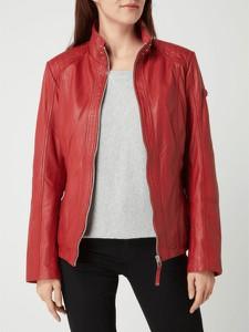 Czerwona kurtka Cabrini ze skóry krótka
