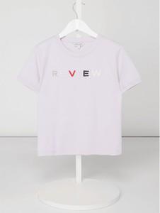 Różowa bluzka dziecięca Review For Teens z bawełny