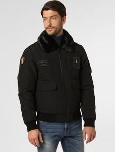 Czarna kurtka Aeronautica w stylu casual