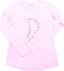 Różowa koszulka dziecięca Dondup z długim rękawem