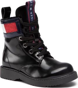 Buty dziecięce zimowe Tommy Hilfiger dla dziewczynek sznurowane