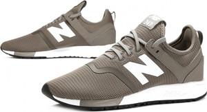 Brązowe buty sportowe New Balance sznurowane w sportowym stylu