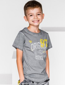 Koszulka dziecięca Ombre Clothing z krótkim rękawem z bawełny