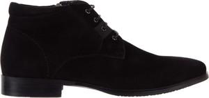 Czarne buty zimowe bayla sznurowane
