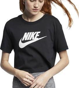 Bluzka Nike z krótkim rękawem w sportowym stylu z okrągłym dekoltem