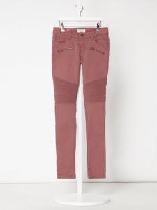 Różowe spodnie dziecięce Review For Teens z jeansu