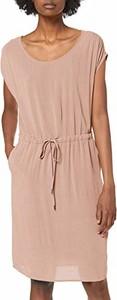 Sukienka amazon.de midi w stylu casual z okrągłym dekoltem