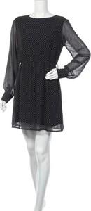 Czarna sukienka Nu-in z długim rękawem mini