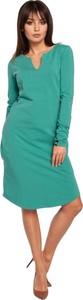 Sukienka Be z długim rękawem w stylu casual z dekoltem w kształcie litery v