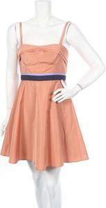 Różowa sukienka Pinko rozkloszowana