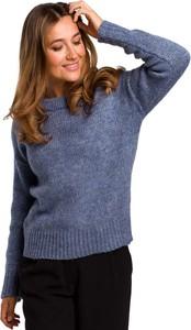 Niebieski sweter MOE w stylu casual