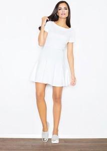 Sukienka Figl trapezowa mini z krótkim rękawem