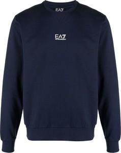 Niebieski sweter Emporio Armani z wełny