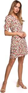 Sukienka Merg mini z krótkim rękawem