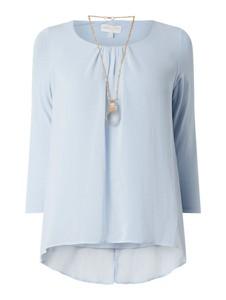 Niebieska bluzka Apricot z długim rękawem z okrągłym dekoltem