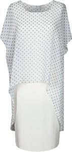 Sukienka Fokus z okrągłym dekoltem midi z krótkim rękawem