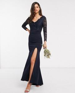 Granatowa sukienka Tfnc maxi