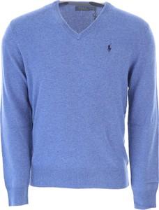 Niebieski sweter Ralph Lauren w stylu casual