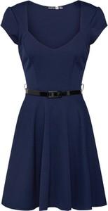 Niebieska sukienka BooHoo mini