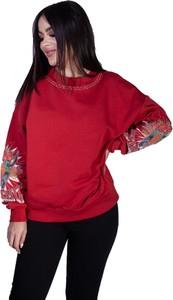 Czerwona bluza Pinko z bawełny
