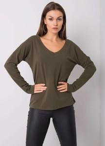 Zielona bluzka Sheandher.pl w stylu casual z długim rękawem