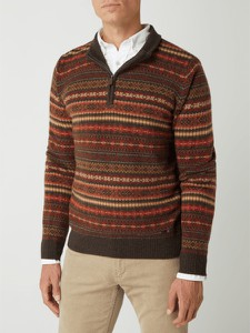 Sweter Fynch Hatton ze stójką w młodzieżowym stylu