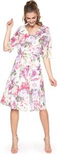Sukienka L'AF z tkaniny z krótkim rękawem