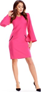 Różowa sukienka Ptakmoda.com trapezowa mini