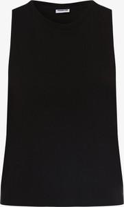 Czarny top Noisy May z okrągłym dekoltem w stylu casual