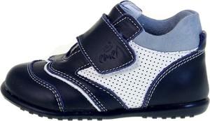 Niebieskie buty dziecięce zimowe EMEL na rzepy