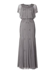 Sukienka Lace & Beads z okrągłym dekoltem z krótkim rękawem maxi
