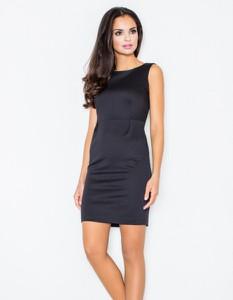 Czarna sukienka Figl bez rękawów mini