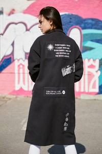 Płaszcz Naoko z tkaniny