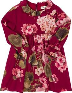 Czerwona sukienka dziewczęca Twinset w kwiatki