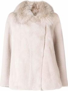 Różowy płaszcz Blancha w stylu casual