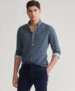 Niebieska koszula Ralph Lauren z bawełny