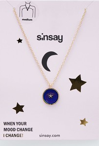 Sinsay - Naszyjnik z zawieszką zmieniającą kolor - Złoty