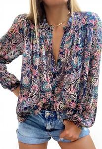 Koszula Sandbella z długim rękawem z dekoltem w kształcie litery v