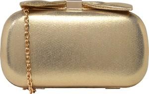 Złota torebka Mascara z kokardką na ramię