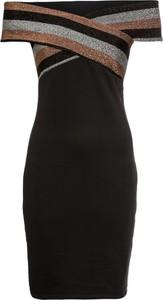 Brązowa sukienka bonprix BODYFLIRT boutique z krótkim rękawem