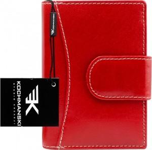 Czerwony portfel Kochmanski Studio Kreacji® ze skóry