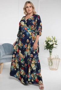 Sukienka KARKO w stylu boho z długim rękawem