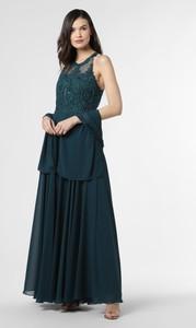 Zielona sukienka Mascara bez rękawów z dekoltem w kształcie litery v maxi