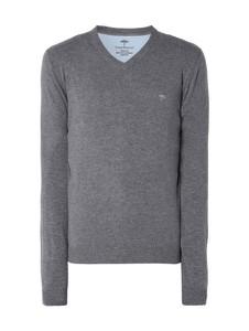 Niebieski sweter Fynch Hatton z kaszmiru w stylu casual