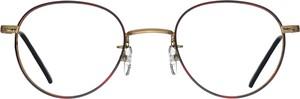 Złote okulary damskie Santino