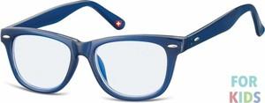 Stylion Dziecięce okulary z Filtrem Niebieskim do komputera zerówki Nerdy KBLF1B Granatowe