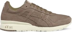 Brązowe buty sportowe ASICS sznurowane z zamszu